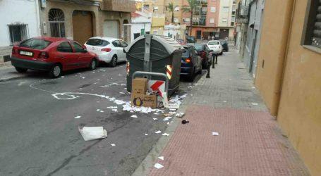 Exigen al alcalde de Paterna que vele por el cumplimiento del servicio de limpieza urbana