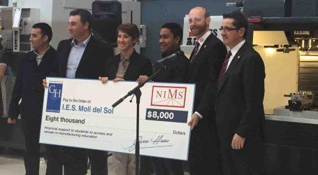 El IES Molí del Sol de Mislata, becado por la empresa Hass con 8.000 dólares