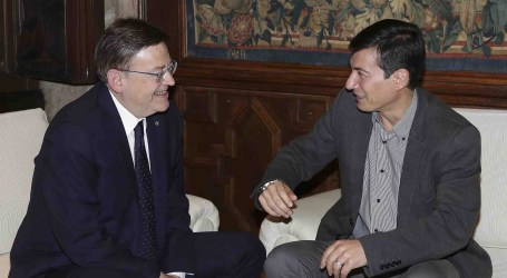 El presidente de la Generalitat se reúne con el alcalde de Burjassot