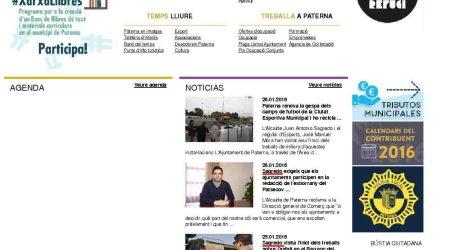 Compromís per Paterna denúncia «l'ús patrimonialista que fa Sagredo de la web municipal»