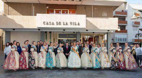 Mislata recibe la visita de la fallera mayor de Valencia