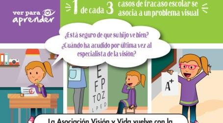 Municipios de la comarca participan en una campaña de salud visual infantil