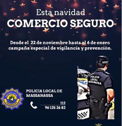 Campaña navideña de seguridad en los comercios de Massanassa