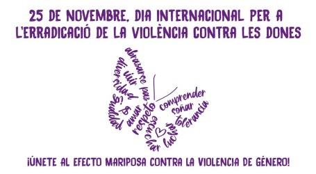 Las mariposas llegan a Torrent para eliminar la violencia contra las mujeres