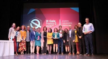 Quart de Poblet reconoce la labor y calidad del comercio y la iniciativa emprendedora local en la III gala Premios Q