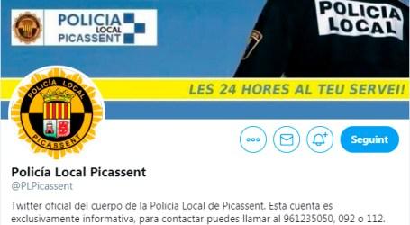 La Policia Local de Picassent ja té twitter