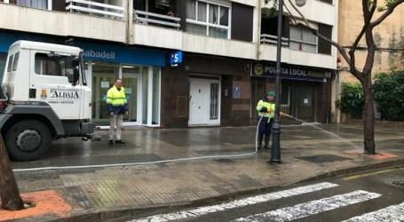 Limpieza de las calles de Aldaia