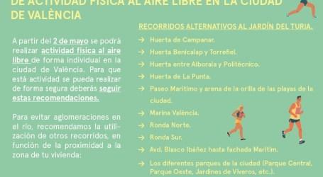 Las 16 rutas para correr en València a partir del día 2 de mayo