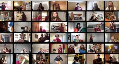 La Societat Musical Eslava d'Albuixech, una banda online durant el confinament