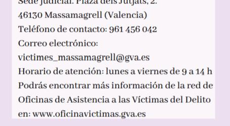 Massamagrell pone en funcionamiento un acompañamiento institucional a las víctimas de un crimen