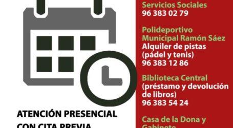 Xirivella extiende la cita previa a todos los servicios municipales
