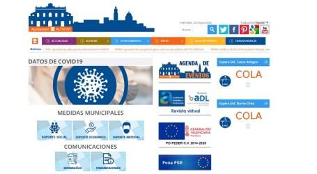Alfafar habilita un apartado de transparencia del covid-19 en su web municipal