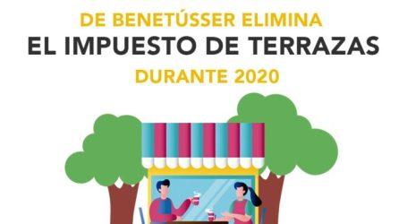 El Ayuntamiento de Benetússer suprime el impuesto de terrazas durante todo 2020