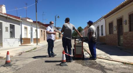 Massamagrell inicia las obras de adecuación de las aceras en el barrio de la Magdalena