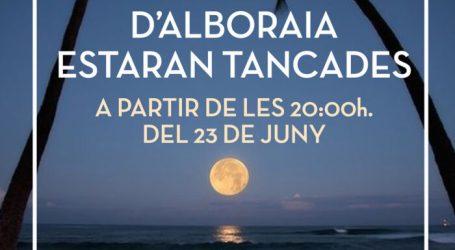 Alboraia prepara un dispositiu especial per la suspensió de la celebració de la nit de Sant Joan en les platges