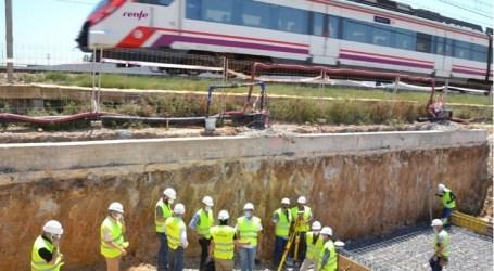 ADIF certifica el buen ritmo de las obras de la estación de tren de Albal