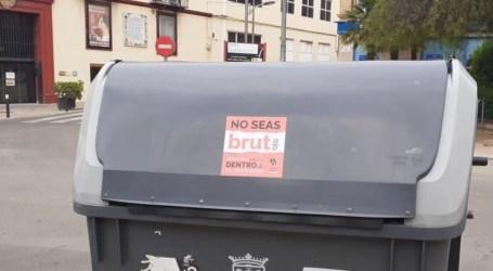 «No seas bruto/a», el nuevo mensaje de los contenedores de Burjassot para que la basura se deposite de forma correcta
