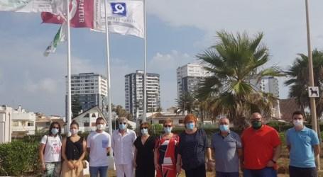 La delegada del Gobierno visita las playas de El Puig y Alboraia