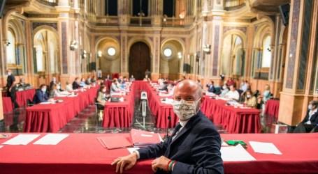La Diputación hace un pleno para debatir su gestión frente a la Covid-19