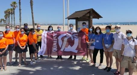 Alboraya recibe las banderas Qualitur en las playas La Patacona y Port Saplaya