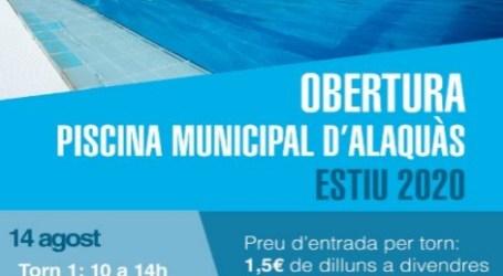 Demà obrirà la piscina d'estiu d'Alaquàs