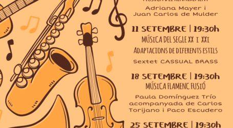 Vuelve en septiembre la quinta edición del Ciclo de Música de Almàssera con todas las medidas de seguridad