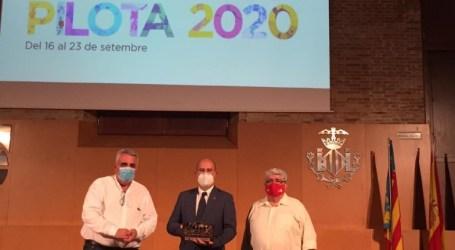 "Massamagrell recibe el premio a la ""Promoción deportiva"" de la Federació Valenciana de Pilota en el XXIX Día de la Pilota 2020"