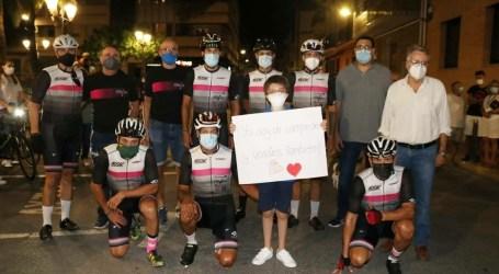 """El """"Reto Solidario 400km por Roberto"""" concluye en Albal tras 14 horas en bicicleta"""
