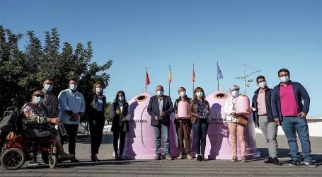 El Ayuntamiento y Ecovidrio desarrollan en Paterna  la campaña solidaria 'Recicla Vidrio por ellas' con motivo del Día del Cáncer de Mama