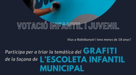Els xiquets, xiquetes i joves de Rafelbunyol poden participar en una votació per a decidir la temàtica del grafiti de l'Escoleta