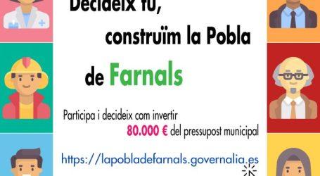 Els ciutadans de La Pobla de Farnals trien els projectes que es desenvoluparan amb els pressupostos participatius