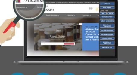 El portal web de l'Ajuntament d'Alcàsser, accessible a tota la ciutadania