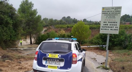 Torrent recupera la normalidad tras el temporal que sufre la Comunitat Valenciana