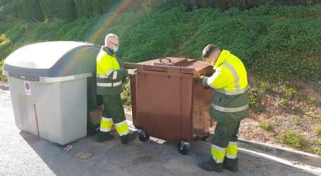 26 contenedores marrones para el Bovalar con los que se reciclará 328t de materia orgánica al año
