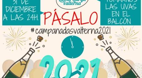 La Asociación Vecinal LLoma Llarga Valterna, propone celebrar la entrada del nuevo año desde el balcón.