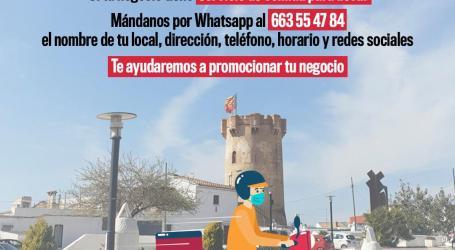 """Paterna lanza """"Hoy no cocines"""", la campaña de apoyo al servicio de comida para llevar de cafeterías, bares y restaurantes de la ciudad"""