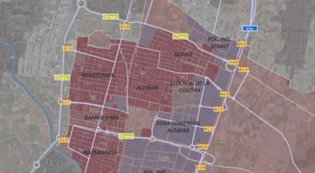 El cierre perimetral de Alfafar, Llocnou, Sedaví, Benetússer y Massanassa obliga a cerrar al tráfico dos salidas de la V-31