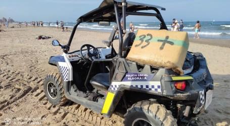 Los fardos de droga encontrados en las playas de la comarca están valorados en 3 millones de euros