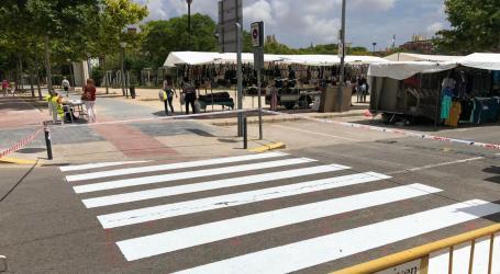 Alaquàs treballa en el manteniment de la pintura vial de diferents carrers