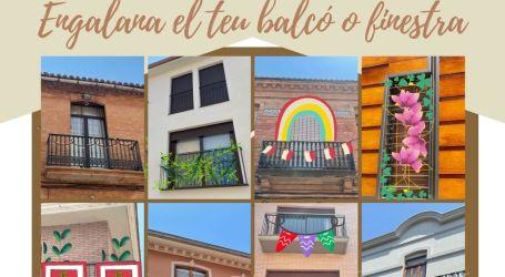 Alfara del Patriarca organitza el primer concurs «Engalana el teu balcó o finestra»