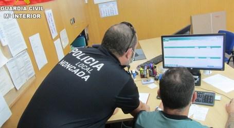 La Guardia Civil detiene a un hombre que simula el robo de su vehículo accidentado para evitar una prueba de alcoholemia en Moncada