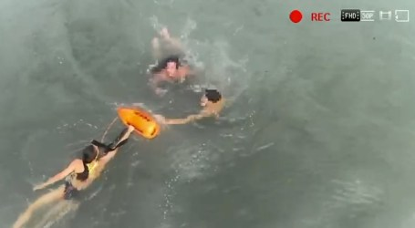 El servicio de socorrismo y salvamento marítimo de Alboraya salva la vida a dos bañistas en Port Saplaya