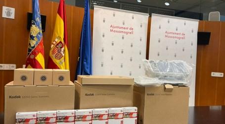 Massamagrell recibe una subvención de la Diputación de València de material informático