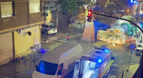 Se desploma la Falla El Charco de Catarroja y la fallera mayor y otro fallero resultan heridos leves
