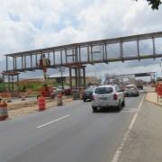 Montaje puente peatonal san antonio