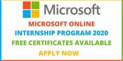تدريب شركة مايكروسوفت عبر الإنترنت (شهادات مجانية) Microsoft Online Internship 2020