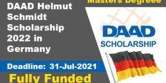 فرصة التقديم في منحة DAAD Helmut-Schmidt-Programme لدراسة الماجستير في المانيا 2022 (ممولة بالكامل)