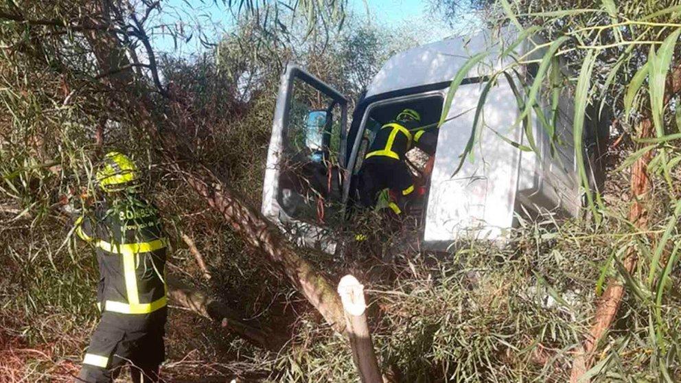 Accidente de camión en Jerez de la Frontera