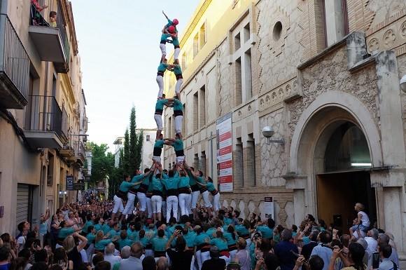 Els Castellers de Vilafranca actuaran aquest dissabte amb la previsió d'aixecar castells de 7