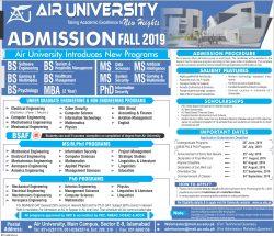 AIR UNIVERSITY admission 2019